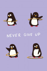 Never give up. Тетрадь
