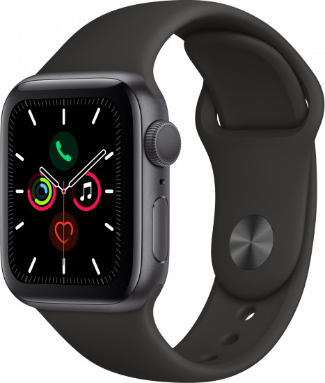 Apple Watch Series 5 GPS 44mm Space Grey Aluminium Case with Black Sport Band