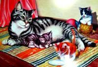 картинка кошка с котятами по ушаковой того