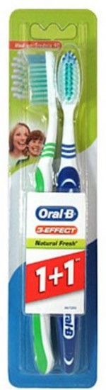 Щетка зубная 1+1 ORAL-B 3-Effect Natural